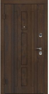 Входные двери BAZ 003 Rodos дуб темный 12 мм(внутренняя),12 мм(наружная)
