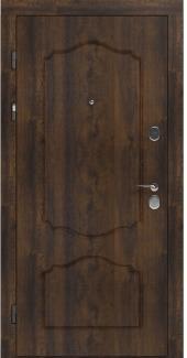 Входные двери LNZ 003 Rodos дуб темный 12 мм(внутренняя),16 мм(наружная)