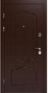 Входные двери LNZ 003 Rodos орех темный 12 мм(внутренняя),16 мм(наружная)
