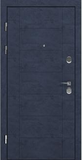 Входные двери LNZ 004 Rodos бетон антрацит 12 мм(внутренняя),16 мм(наружная)