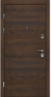 Входные двери LNZ 004 Rodos дуб темный 12 мм(внутренняя),16 мм(наружная)