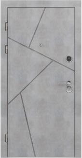 Входные двери LNZ 006 Rodos бетон бежевый 12 мм(внутренняя),16 мм(наружная)