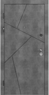 Входные двери LNZ 006 Rodos бетон наружный 12 мм(внутренняя),16 мм(наружная)