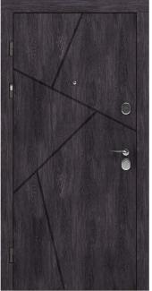 Входные двери LNZ 006 Rodos дуб шале графит 12 мм(внутренняя),16 мм(наружная)
