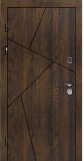 Входные двери LNZ 006 Rodos дуб темный 12 мм(внутренняя),16 мм(наружная)