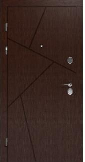 Входные двери LNZ 006 Rodos орех темный 12 мм(внутренняя),16 мм(наружная)