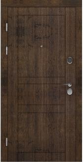 Входные двери LNZ 007 Rodos акация темная 12 мм(внутренняя),16 мм(наружная)