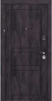 Входные двери LNZ 007 Rodos дуб шале графит 12 мм(внутренняя),16 мм(наружная)