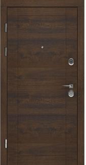 Входные двери LNZ 007 Rodos дуб темный 12 мм(внутренняя),16 мм(наружная)