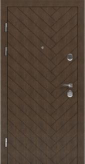 Входные двери STS 001 Rodos LTL 6515 16 мм(внутренняя),Фанера влагостойкая 15 мм, покрытие LTL морилка + водостойкий УФ лак(наружная)