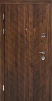Входные двери STS 001 Rodos орех 16 мм(внутренняя),Фанера влагостойкая 15 мм, покрытие LTL морилка + водостойкий УФ лак(наружная)