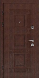 Входные двери STS 002 Rodos LTL 6403 16 мм(внутренняя),Фанера влагостойкая 15 мм, покрытие LTL морилка + водостойкий УФ лак(наружная)