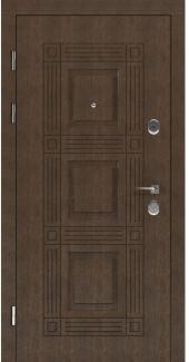 Входные двери STS 002 Rodos LTL 6515 16 мм(внутренняя),Фанера влагостойкая 15 мм, покрытие LTL морилка + водостойкий УФ лак(наружная)