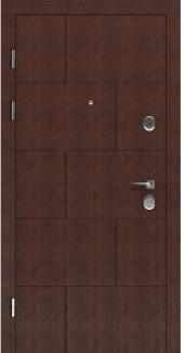 Входные двери STS 003 Rodos LTL 6403 16 мм(внутренняя),Фанера влагостойкая 15 мм, покрытие LTL морилка + водостойкий УФ лак(наружная)