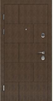 Входные двери STS 003 Rodos LTL 6515 16 мм(внутренняя),Фанера влагостойкая 15 мм, покрытие LTL морилка + водостойкий УФ лак(наружная)