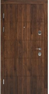 Входные двери STS 003 Rodos орех 16 мм(внутренняя),Фанера влагостойкая 15 мм, покрытие LTL морилка + водостойкий УФ лак(наружная)