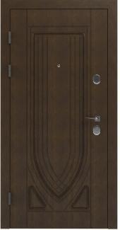 Входные двери STS 004 Rodos LTL 6515 16 мм(внутренняя),Фанера влагостойкая 15 мм, покрытие LTL морилка + водостойкий УФ лак(наружная)