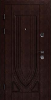 Входные двери STS 004 Rodos орех 16 мм(внутренняя),Фанера влагостойкая 15 мм, покрытие LTL морилка + водостойкий УФ лак(наружная)