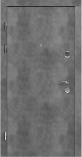 Входные двери STZ 001 Rodos бетон наружный 16 мм(внутренняя),16 мм(наружная)