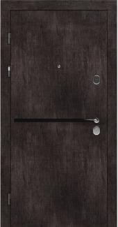 Входные двери STZ 002 Rodos винтажный дуб темный 16 мм(внутренняя),16 мм(наружная)