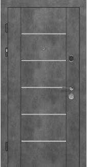 Входные двери STZ 003 Rodos бетон наружный 16 мм(внутренняя),16 мм(наружная)