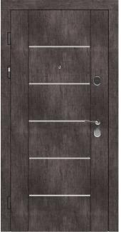Входные двери STZ 003 Rodos винтажный дуб серый 16 мм(внутренняя),16 мм(наружная)