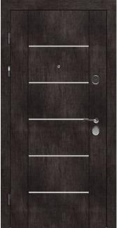 Входные двери STZ 003 Rodos винтажный дуб темный 16 мм(внутренняя),16 мм(наружная)