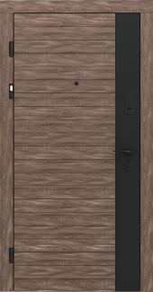 Входные двери STZ 009 Rodos шпон дуба 16 мм(внутренняя),16 мм(наружная)