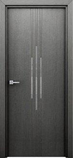 Двери Сафари серые с молдингом