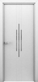 Двері Сафарі білий жемчуг с молдингом