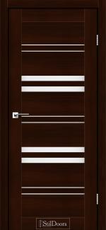 Межкомнатные двери Slovenia StilDoors каштан стекло сатин