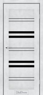 Межкомнатные двери Slovenia StilDoors светлый бетон стекло черное