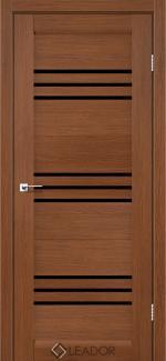 Межкомнатные двери Sovana Леадор браун стекло черное