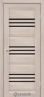 Межкомнатные двери Двери Sovana Леадор монблан стекло черное
