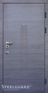 Двері Steelguard Barca венге сірий горизонт / білий мат