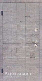 Двері Steelguard Каскад 157 венге сірий горизонт, декор 3d