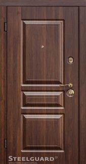 Двері Steelguard TermoScreen темний горіх / білий мат 117 темний горіх / білий мат