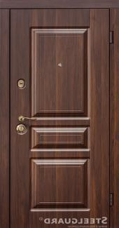 Двери Steelguard TermoScreen Steelguard темный орех снаружи / белый мат внутри входная дверь
