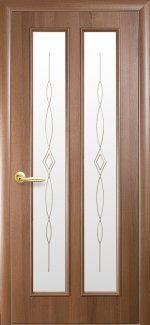 Двери Стелла Новый Стиль золотая ольха со стеклом