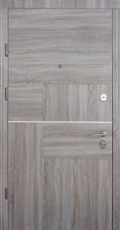 Входные двери Quadro Страж венге горизонт / венге сірий горизонт