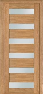 Межкомнатные двери Двері модель 136 Термінус світлий дуб зі склом