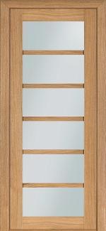 Межкомнатные двери Двери модель 137 Терминус светлый дуб со стеклом