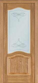 Двери Терминус модель 3 светлый дуб со стеклом