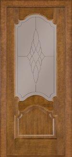 Двери Терминус модель 8 темный дуб со стеклом