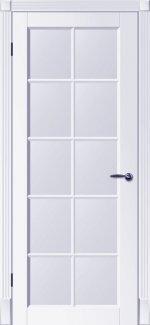 Двери Тесоро К3 ПОО белая эмаль со стеклом + решетка