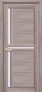 Двери Тринити Новый Стиль сандал со стеклом Сатин
