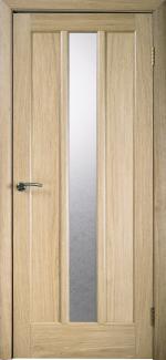 Межкомнатные двери Трояна НСД дуб классический со стеклом