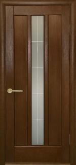 Межкомнатные двери Трояна НСД каштан со стеклом