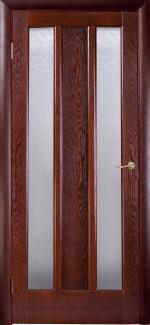 Межкомнатные двери Трояна НСД каштан 2 стекла