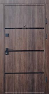 Входные двери Ультра Аккорд-Ас Qdoors дуб табак / белое дерево